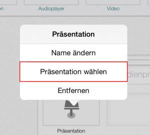 Step - Präsentation wählen